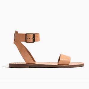 Madewell Boardwalk Ankle Strap Sandal Linen NWOT 9